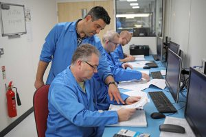 Ritchie Eagleton (standing) during an IPC 7711 course at OSI Electronics UK.