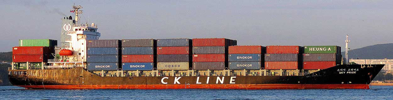 Photo of a Chinese container ship - rationing of electricity at some of China's major industrial areas and its ports is likely to slow shipments of electronic components